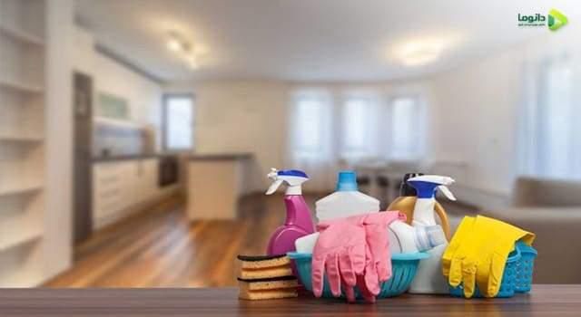 مرتب کردن وسایل و تمیز محل جدید