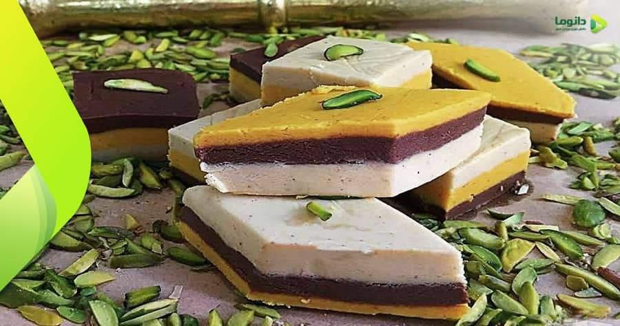 مراحل و نکات تهیه شیرینی برشتوک نخودچی، شیرمرغ و یا حلوای خشک شکلاتی و ساده